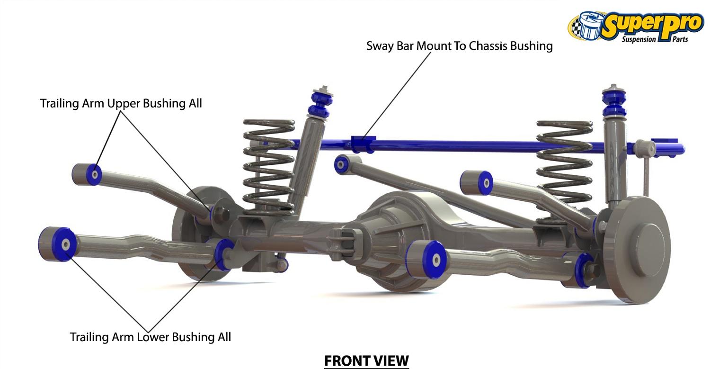 Superpro Leaf Spring Suspension Bush Kit Kit070k Fits