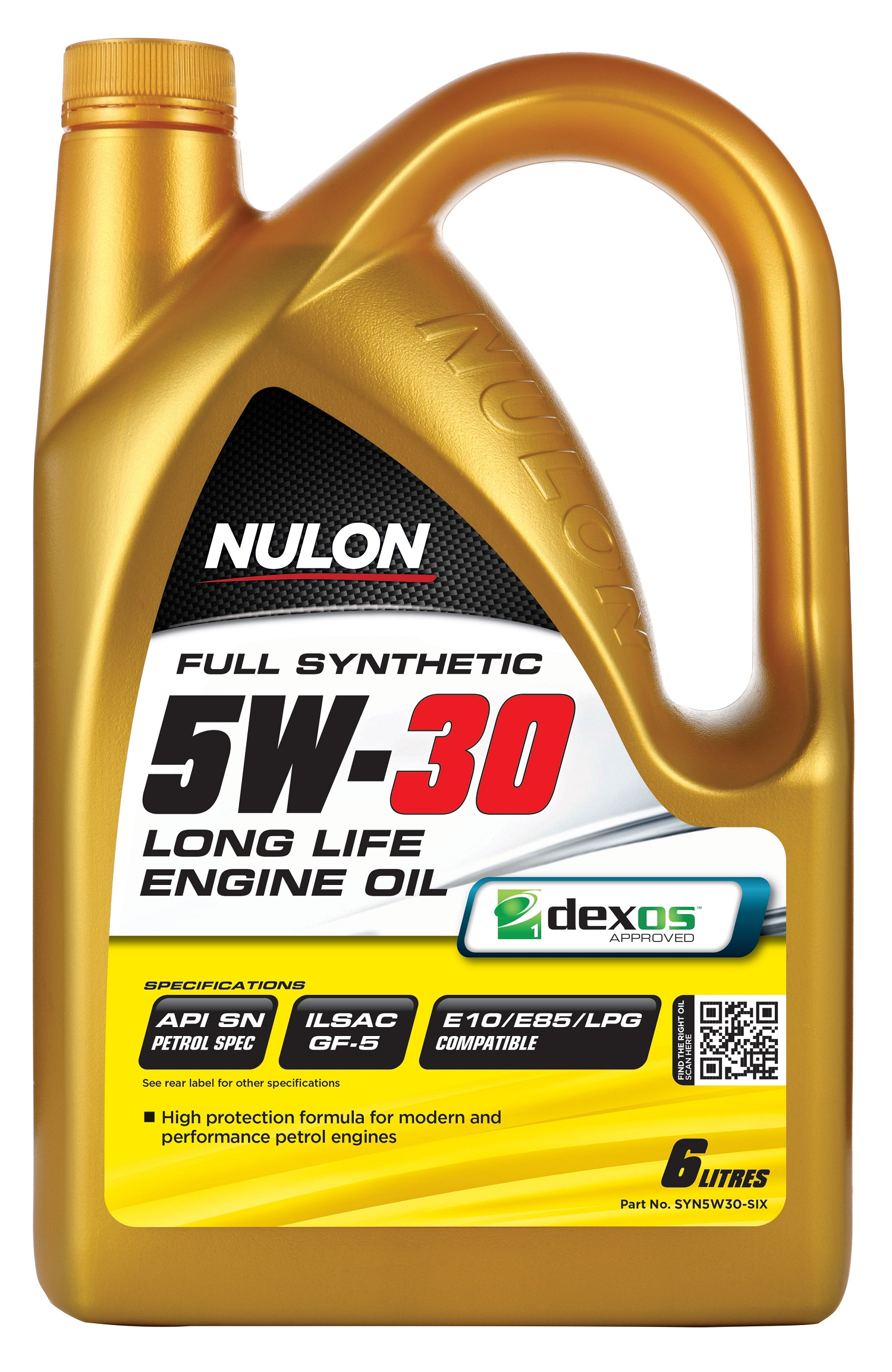 nulon full synthetic 5w30 long life engine oil 6l syn5w30. Black Bedroom Furniture Sets. Home Design Ideas