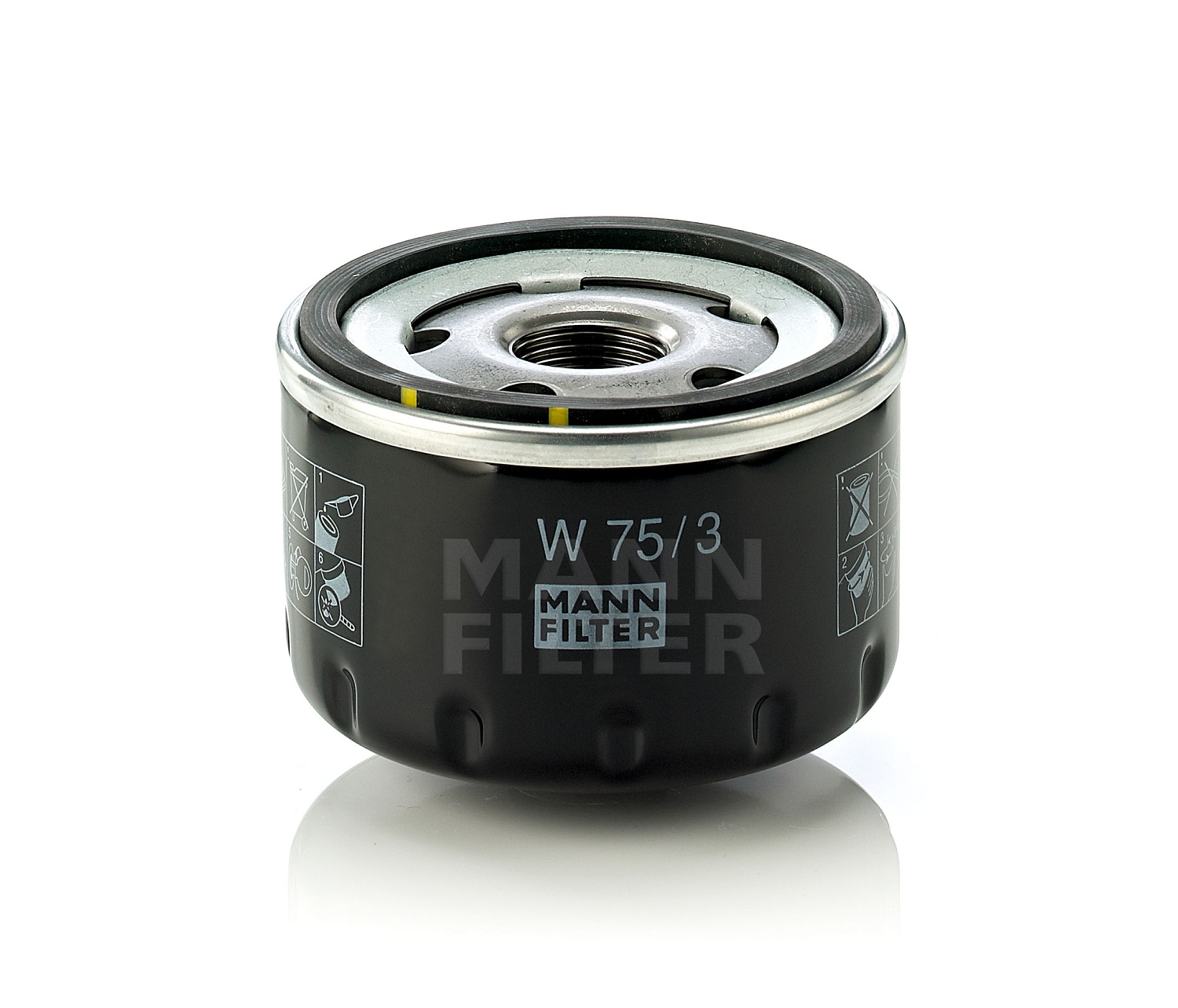 MANN Oil Filter W75/3 fits Renault Clio 1.4 16V (BB),1.6 ...